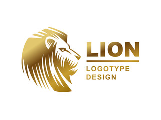 Lion head logo - vector illustration, emblem design