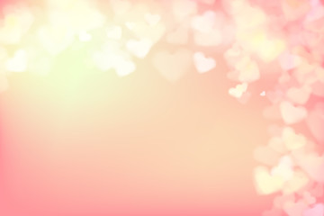 004 Blur heart on light pink abstract background vector illustra