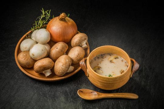 きのこのポタージュ Potage France dish of the mushroom