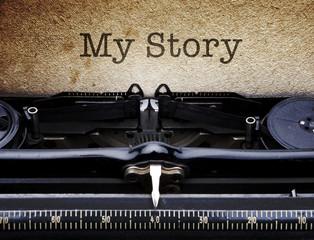 Geschichte in der Schreibmaschine