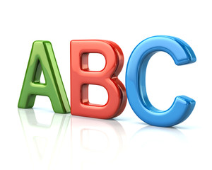 Colorful ABC letters 3d illustration