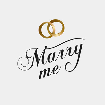 marry me calligraphy card