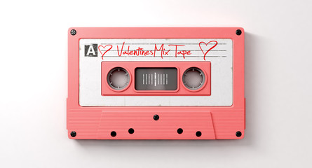 Pink Cassette Mix Tape