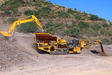 conveyor and excavator