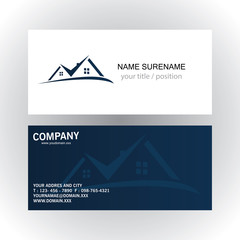 real estate logo business card