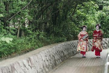 Foto op Plexiglas Asia land Portrait of a Maiko geisha in Gion Kyoto