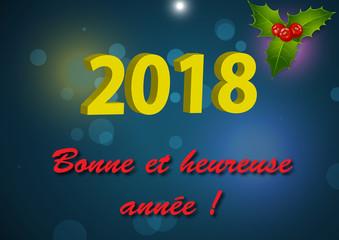 Année 2018, Bonne année.