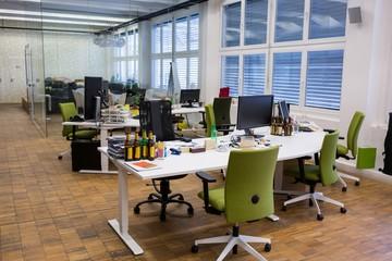 Empty work desk