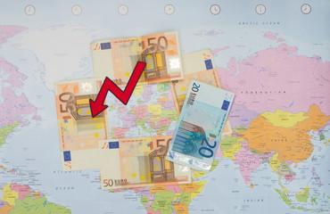 The fall of the euro area economy