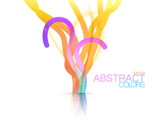 Abstract colors shape scene vector on a white background