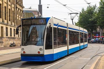 City tram in Amsterdam