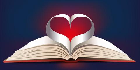 Cœur - Livre ouvert - amour - St Valentin - Histoire