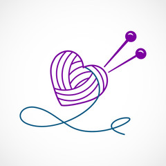 Knitting Vector Heart