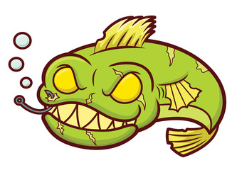 Zombie Fish Cartoon