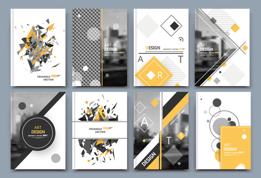 Abstract composition, business card set, correspondence letter collection, brochure title sheet, certificate, diploma, patent, charter, figure frame surface, logo backdrop EPS 10 vector