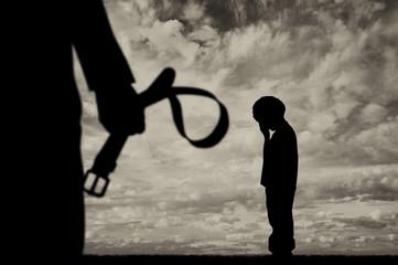 Child violence concept