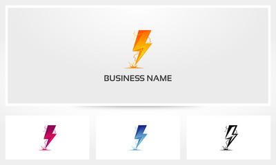 Thunder Electric Lightning Logo