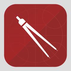 compasses vector icon