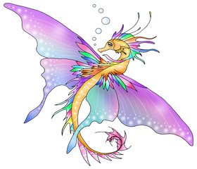 Illustrated fantasy butterfly