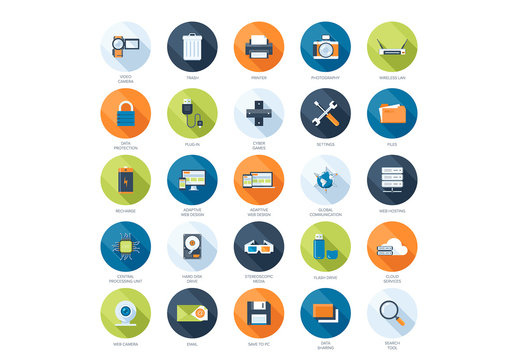 25 Media and Storage Icons