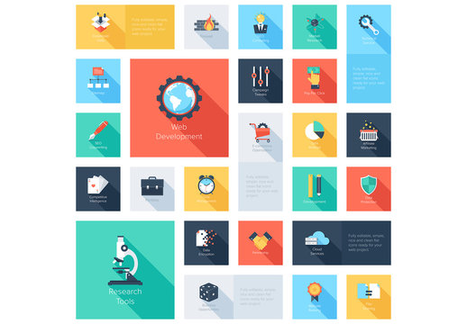Web Development Grid Illustration