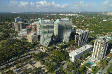 Aerial photo of buildings in Coconut Grove Florida