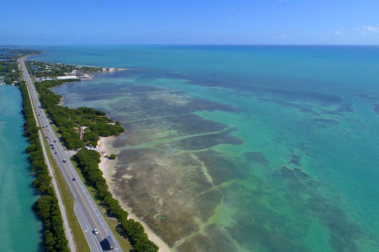 Aerial photo of the Florida Keys