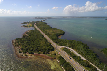 Aerial image of the Florida Keys