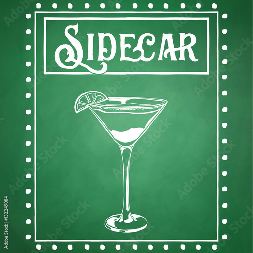 Classic new orleans cocktail sketch stock photo and for Classic new orleans cocktails
