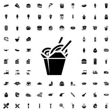 chinese fast food icon illustration