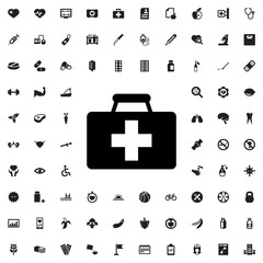 first aid kit icon illustration