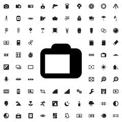 camera display icon illustration