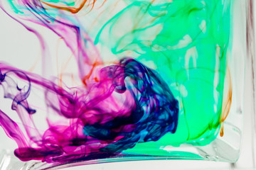 Fotobehang Paradijsvogel Abstract, colorful ink shapes
