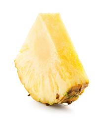 pineapple slice isolated on the white background