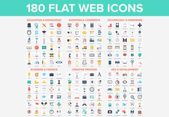 180 Circular Web Icons
