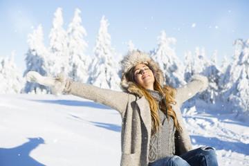 Freiheit in der Winterlandschaft