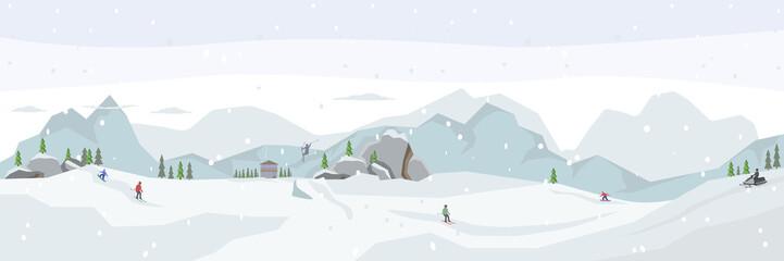 Ski resort. Winter panorama