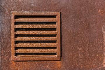 Wall Mural - Old metal iron rust