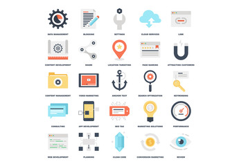 25 Flat Content Icons 1