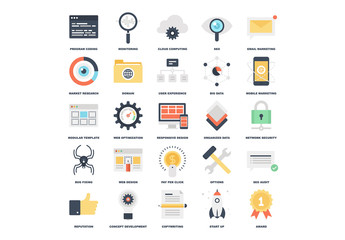 25 Flat Content Icons 2