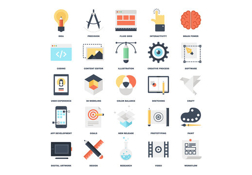 25 Flat Design Icons