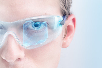 Futuristic virtual reality interface