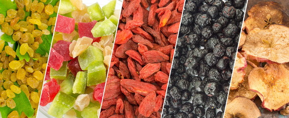 Wall Murals Fruits Dried fruit collage