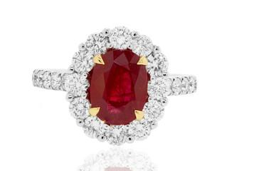 anillo con rubies y diamantes joyeria de bodas y en oro