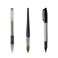 pen, brush, marker isolated on white background