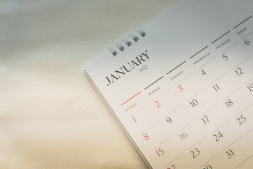 Blurred calendar page