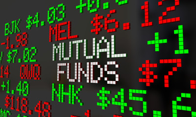 Mutual Funds Stock Tickers Scrolling Investment Options 3d Illus