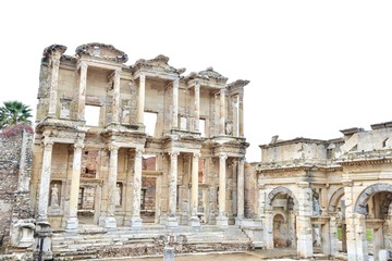 Impressive Structure of the Library of Celsus in Ephesus, Turkey