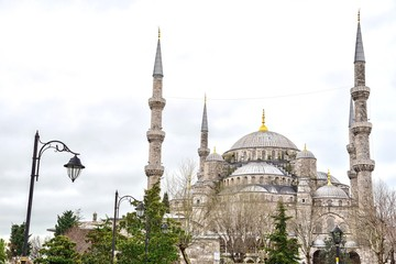 The Blue Mosque, or Sultan Ahmed Mosque, One of the Most Important Religious Edifices in Istanbul, Turkey