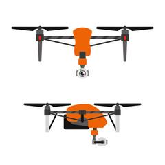 Drone quadcopter vector.